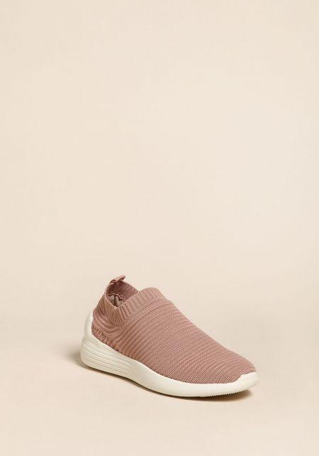 Mauve Slip On Sneakers
