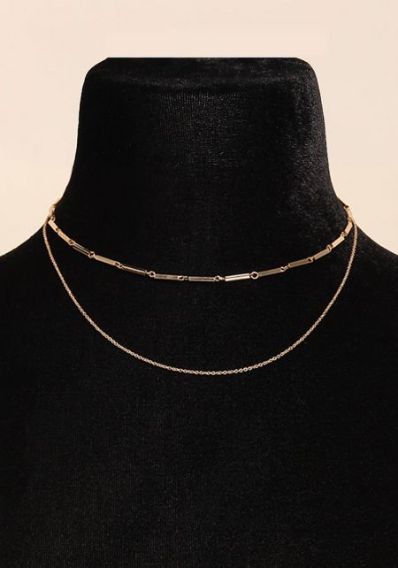 Gold Layered Chain Choker
