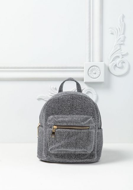 Silver Shimmer Mini Backpack