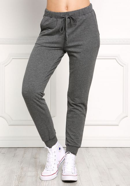 Charcoal Solid Jogger Pants