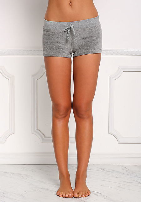 Grey Velvet Low Rise Shorts