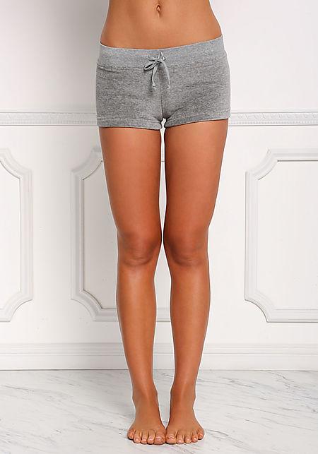 Grey Velvet Low Rise Shorts