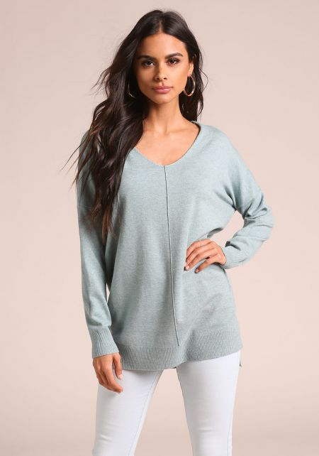 Mint Soft Knit Sweater Top