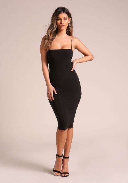 Black Sleek Bodycon Dress