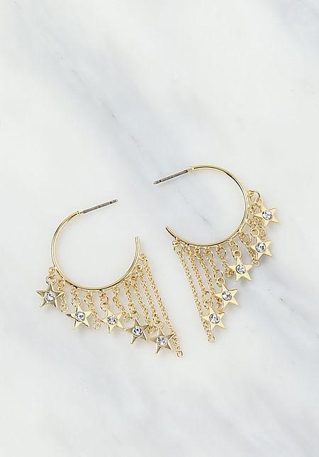 c84428816 Gold Chain C Hoop Earrings