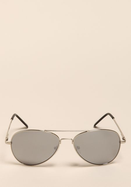 Silver Top Bar Aviator Sunglasses