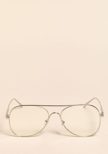 Clear Aviator Sunglasses