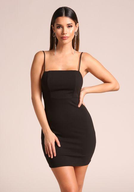 Black Low Back Bodycon Dress