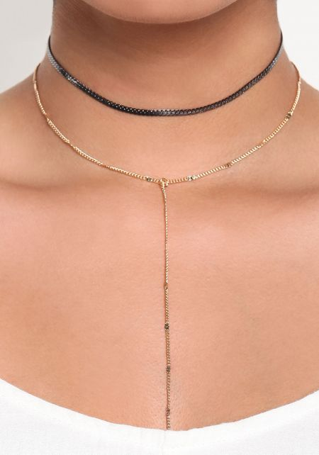 Gold Layered Delicate Choker