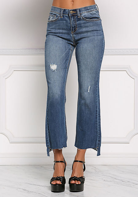 Denim Flared High Rise Jeans