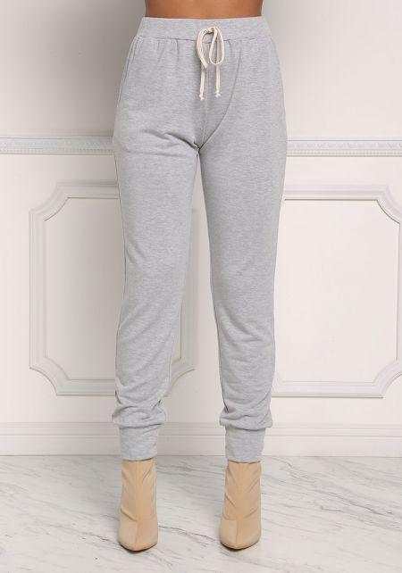 Heather Grey Marled Jogger Pants