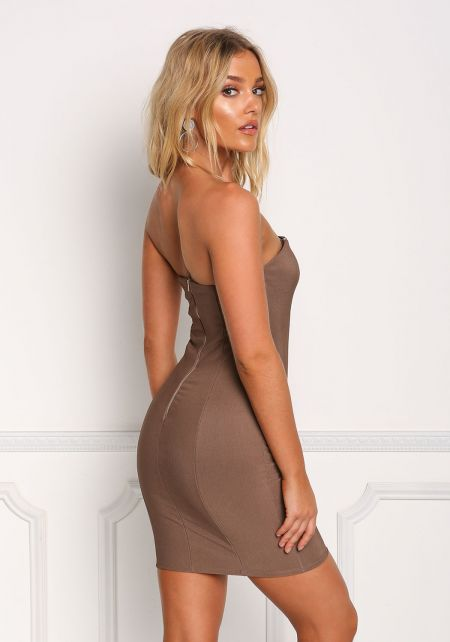 Cocoa Strapless Bodycon Dress