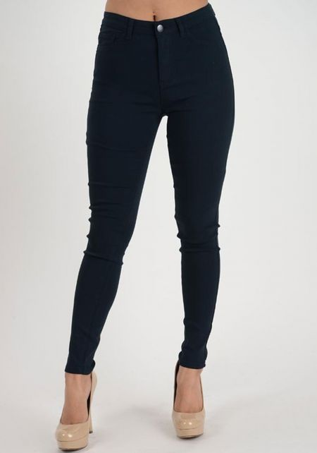 Navy High Rise Skinny Jeans