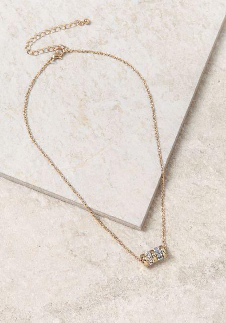 Gold Thread Gemstone Necklace