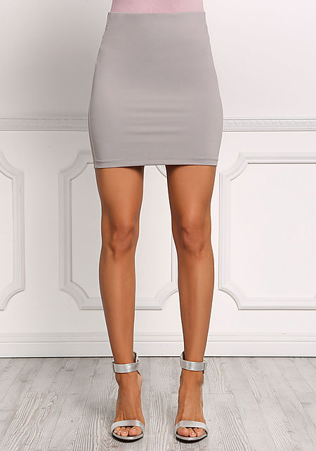 Stone High Rise Sleek Skirt