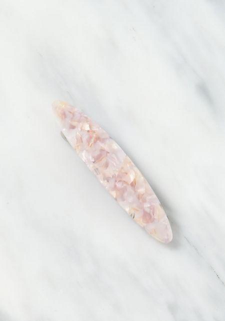 Light Pink Resin Hair Barrette