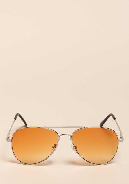 Orange Gradient Aviator Sunglasses