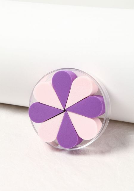 Purple and Pink Petal Perfect Cosmetic Sponge Set