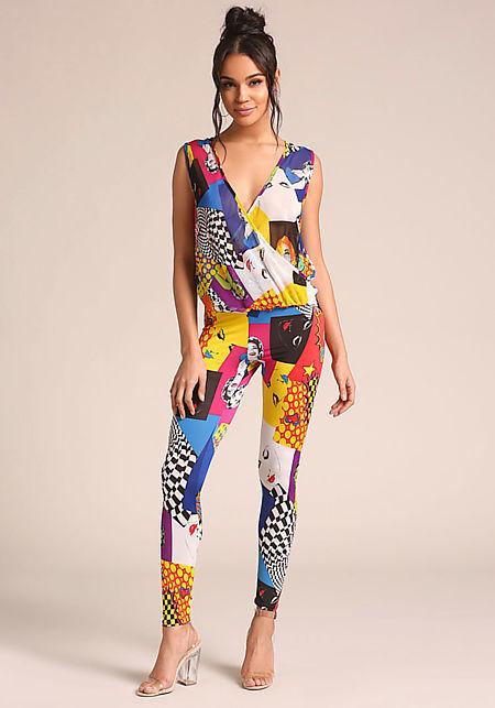 Black Pop Art High Rise Leggings