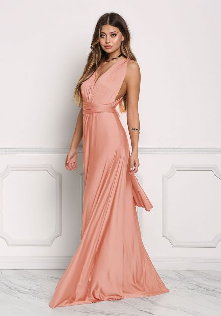 Rose Multi Wrap Maxi Gown