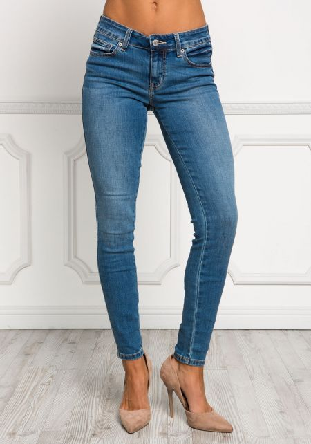 Light Denim Low Rise Skinny Jeans