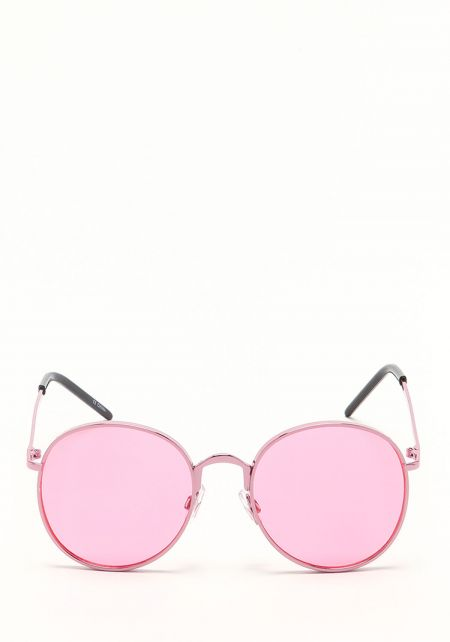 Zero UV Pink Round Aviator Sunglasses
