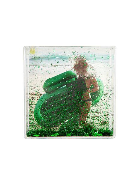 Sunnylife Cactus Glitter Square Picture Frame