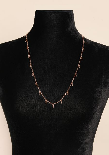 Rose Gold Two In One Thin Belly Chain & Necklace