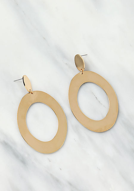 Gold Cut Out Drop Earrings