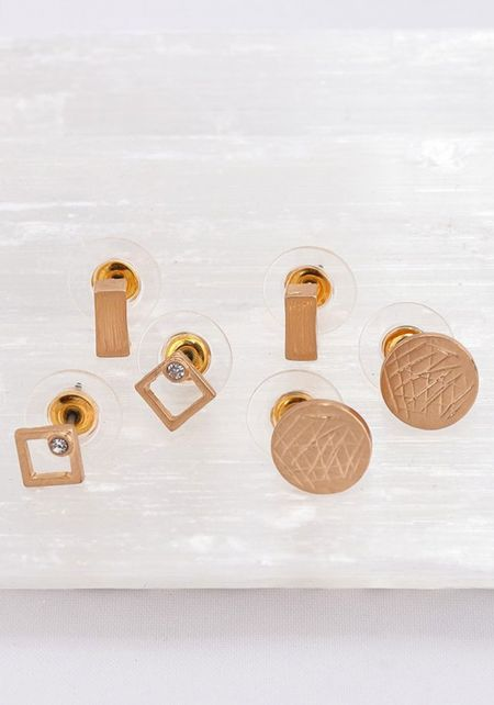 Gold Assorted Earrings Set
