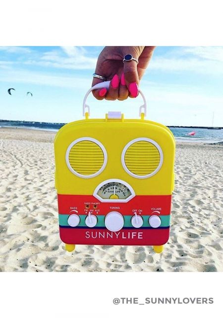 SunnyLife Yellow Beach Sounds Speaker