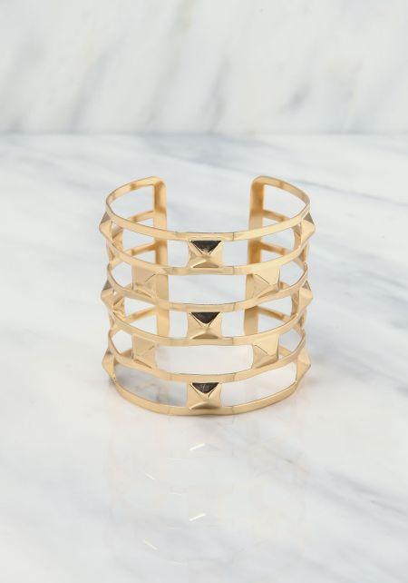 Gold Stud Cuff Bracelet