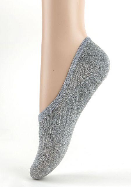 Grey No Show Knit Socks
