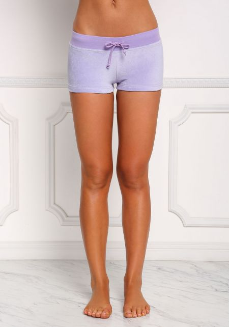 Lavender Velvet Low Rise Shorts