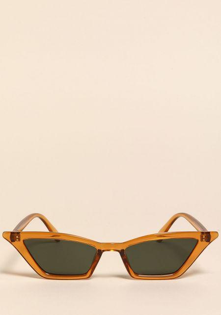 Mustard Skinny Cat Eye Sunglasses