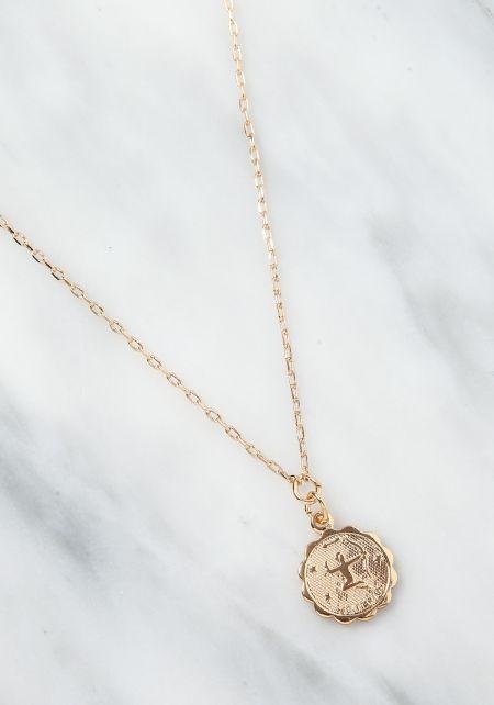 Gold Sagittarius Zodiac Choker