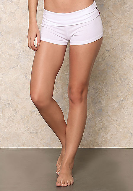 White Yoga Stretch Shorts