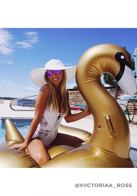 SunnyLife Luxe Gold Swan Pool Float