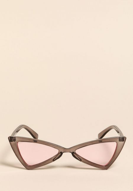 Black Colored Geometric Cat Eye Sunglasses