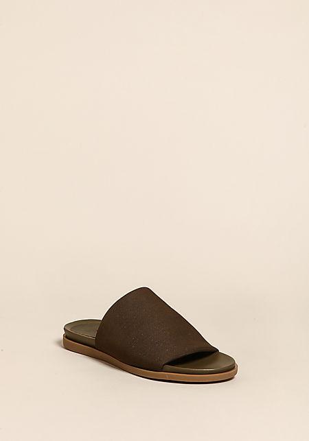 Olive Mesh Slip On Sandals