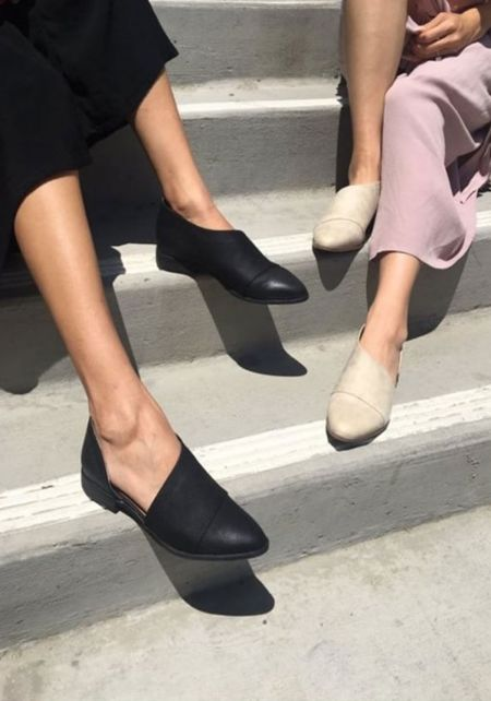Stone Leatherette Side Cut Out Flats