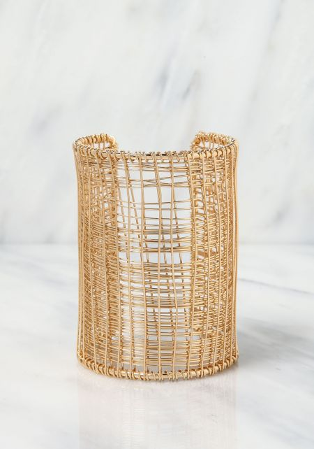 Gold Thin Multi Wire Arm Cuff