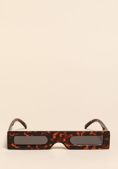 Leopard Micro Rectangular Sunglasses