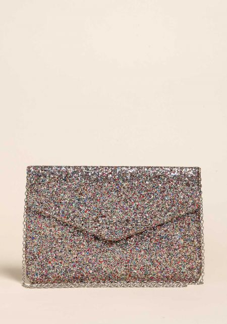 Multi Glitter Envelope Clutch