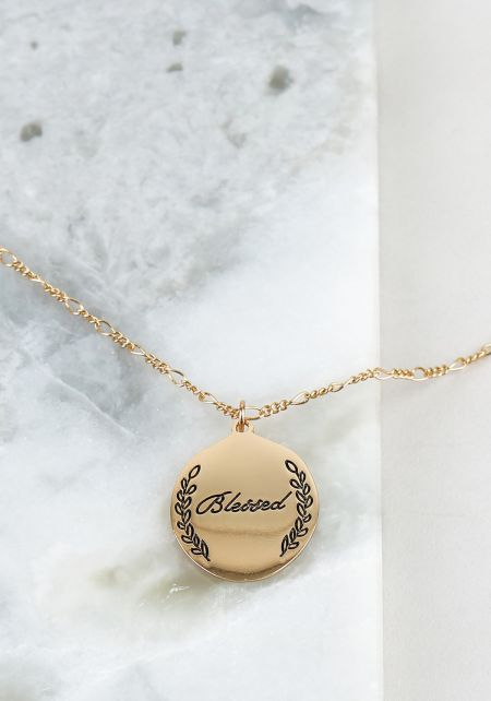 Gold Blessed Thin Chain Delicate Necklace
