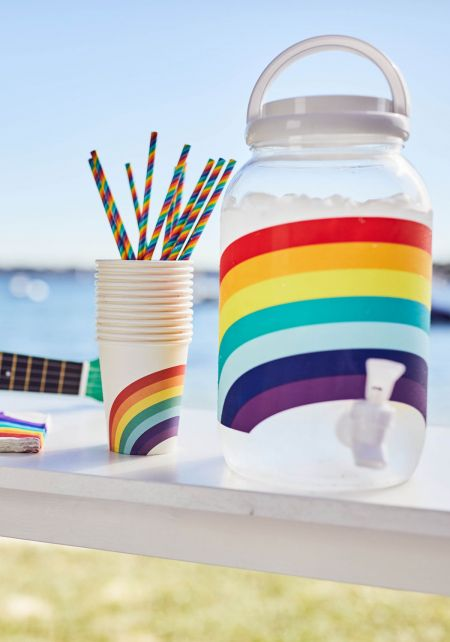Sunnylife Rainbow Drink Dispenser Party Kit
