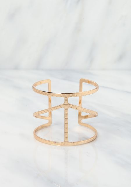 Gold Thin Cut Out Arm Cuff