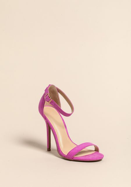 Light Purple Stiletto Ankle Strap Heels