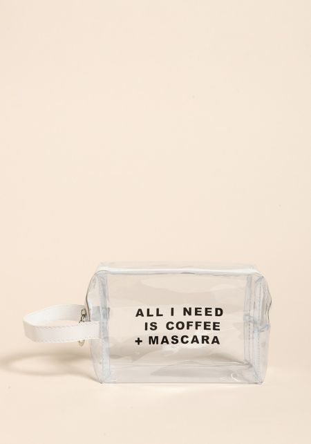 Clear Coffee + Mascara Pouch