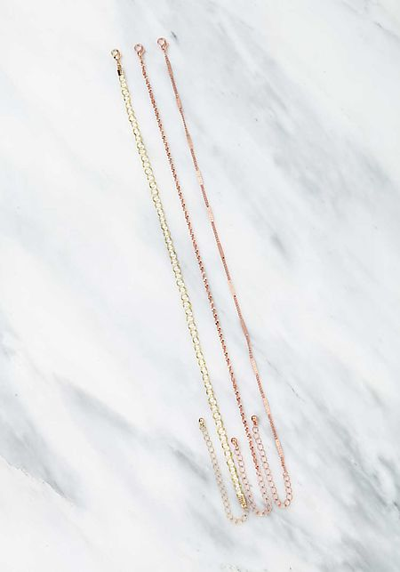Rose Gold Assorted Chain Chokers Set